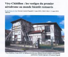 Viry-chatillon, 8 mars2019. Le bâtiment du mess des officiers de Port-Aviation Labellisé. LP/Laurent Degradi